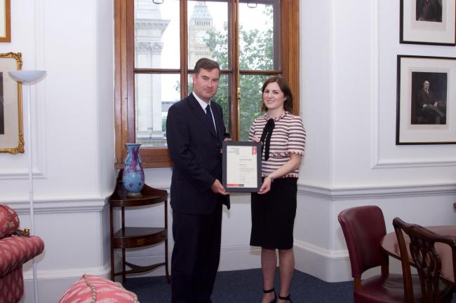 Leanne Flanagan with David Gauke MP