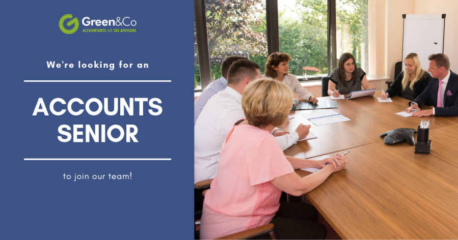 Green & Co Accountants and Tax Advisors - Account Senior Vacancy